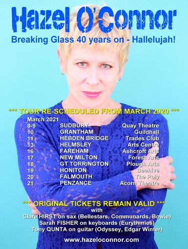 Hazel O'Connor - Breaking Glass 40 years on 2020