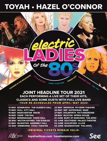 Hazel O'Connor Toyah Willcox Electric Ladies 2021