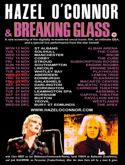 Hazel O'Connor And Breaking Glass Tour 2018