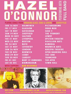 Hazel O'Connor Mega Plus Tour 2017