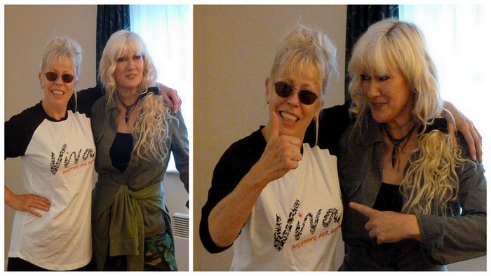 Hazel O'Connor - Recording for the Viva charity Christmas single June 2013