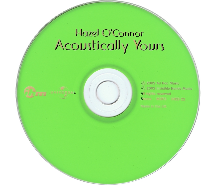 Hazel O'Connor - Acoustically Yours - CD1