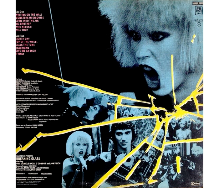 Hazel O'Connor - Breaking Glass - Back Cover